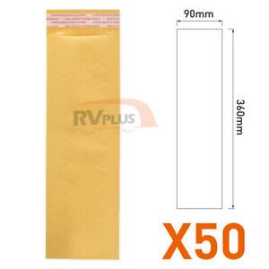 50XYellow Premium Business Envelope-90x360mm Spare Padded Bubble Envelope