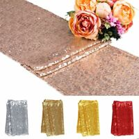 """12"""" x 118"""" Sequin Table Runners Glitter Sparkly Tablecloth Wedding Party Decor"""