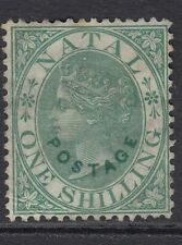 Natal 1870 1s Green SG59 Unused