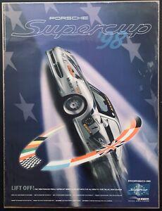 ORIGINAL 1998 PORSCHE SUPERCUP SHOWROOM VICTORY POSTER MOTORSPORT 911 PIRELLI