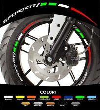 Kit Adesivi Cerchi Moto Ruote Sportcity Aprilia Tricolore