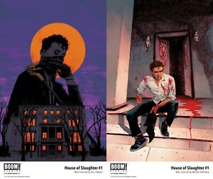 House of Slaughter 1 Main Cover + Dell' Edera Variant Set Boom! Studios NM 10/20