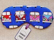 Eye Sleep Mask, Camper Van VW Retro Cotton Travel, Relax Gift, Blackout,UK Made