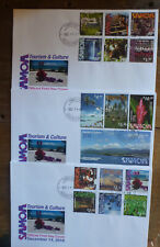 SAMOA 2016 CULTURE & TOURISM SET 16 STAMPS ON 3 FDC FIRST DAY COVERS