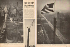1954 vintage article NEW TOP OVER CHICAGO ! Prudential Building Completed 122817