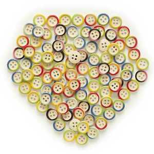 50pcs Color Pattern Wood Buttons for Sewing Scrapbooking Cloth Making Decor 15mm