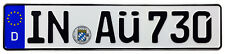 Audi Ingolstadt Front German License Plate AÜ by Z Plates with Unique Number NEW