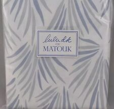 $448 Lulu DK Matouk New F/Q Duvet Cover 500TC Cotton Percale Palmyra
