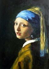 "Jan Vermeer reproductionsOil Painting -THE GIRL WITH THE PEARL EARING- 20""x30"""