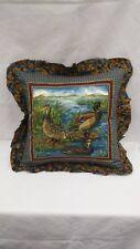 """Ducks in woodlands marsh  16"""" Throw Pillow"""