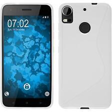 Silikon Hülle für HTC Desire 10 Pro weiß S-Style + 2 Schutzfolien