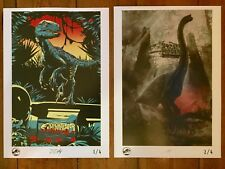 2 LIMITED EDITION JURASSIC WORLD OFFICIAL UK PRINT POSTERS 1 & 2/4 JURASSIC PARK
