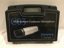 Samson C03 Multi-Pattern Condenser MicrophoneTested W/ Case DOESNT INCLUDE CLIP