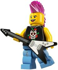 4 LEGO Minifig series 4 Punk Rocker 8804