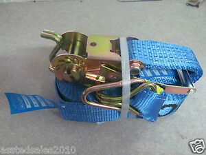 RATCHET STRAP 10 Pack 6mx35mm x1500kg $130, trailer straps 6m long  NOW IN STOCK