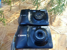 LOT 2 Canon PowerShot A1200 12.1MP Digital Cameras - Black FOR REPAIR AS IS