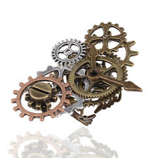 Unisex Copper Steampunk Creative Combination Clock Gear Finger Ring Jewelry Gift