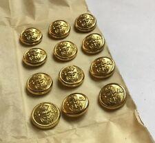 Card 12 South Africa African Navy 15mm Gold Gilt Buttons Uniform Anchor