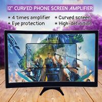 Téléphone de Loupe Portable 3D écran Incurvé HD Video Amplificateur Support