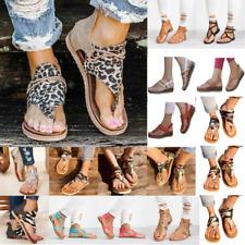 Women's Camouflage Flats Sandals Ladies Strappy Flip Flops Summer Beach Shoes
