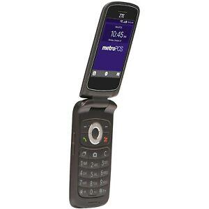MetroPCS ZTE Cymbal Z-320 - 4GB - Black 4G LTE Flip Phone