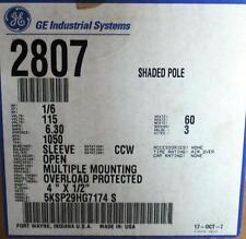 GE Motor 346 1/6 HP 1050 RPM 115 Volt CCW 5KSP29HG7174S   TN-45