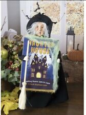 New Listing2020 Byers Choice Witch with Halloween Haunted Sign Exclusive New! Rare