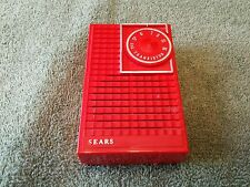 Vintage Antique Red Sears Silvertone AM Transistor Radio Model 5201 Red