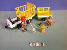(M349) playmobil véhicule du zoo ref 3242 3240