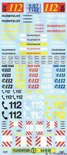 1142 - Decals Feuerwehr Decalbogen 1:87