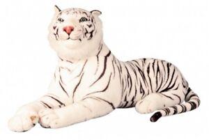 Plüschtier XXL weisser Tiger 110 cm Kuscheltier Softtier Stofftier Raubkatze