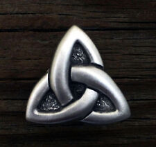 Celtic Triquetra Concho | Celtic Triquetra Trinity Knot Rivet Pewter Made in USA