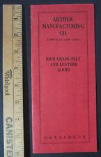 SUPER Rare College Felt Leather Pennant Trade Catalog 1920 Arthur Co Lowville NY