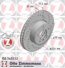 Disque de frein avant ZIMMERMANN PERCE 150.3403.52  BMW 5 E60 525d xDrive 197ch