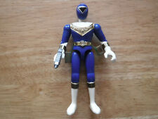 Bandai Power Rangers 1996 BLUE ZEO RANGER action figure with gun vintage 4.75""
