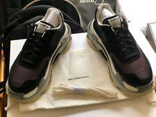 779990c7d2 Balenciaga Triple S EU 42 / US 9 Purple/black nubuck,nylon & leather