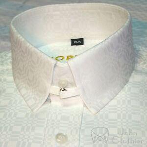 Tab Collar Shirt Soft Cotton Bond Cufflink Dobby Checks Gents French cuff Mens