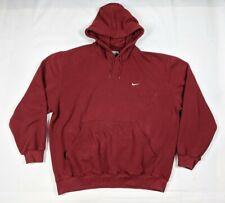 Vintage 90s Nike Small Embroidered Swoosh Hoodie Travis Scott  Maroon XL X-Large