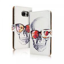 Etui Housse Clapet Samsung Galaxy S 7 Edge ( G 935 ) - Motif Skull