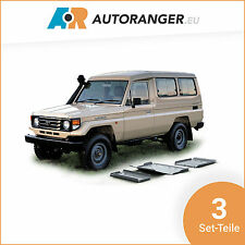 Unterfahrschutz Set 3 Teile — Aluminium 6mm — Toyota Land Cruiser HZJ78 / HZJ79
