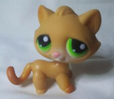 Littlest Pet Shop #110 Orange Brown Tabby Kitty Cat Authentic minor wear