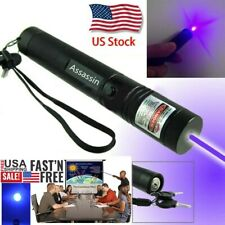 900Miles Blue Purple Visible Beam Laser Pointer Pen 405nm Lazer Adjustable Focus