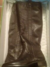 Sam Edelman Tall Black Leather Prina Boots Studs NWB 6.5