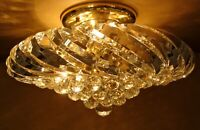 Vintage Lighting cool 1970s LUCITE ceiling fixture. Way mod!