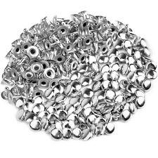 6mm Rivetti Borchie Argento 100pz Per DIY Scarpe Cintura Borse Decorazione