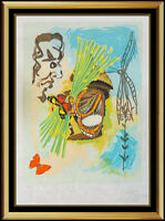 Salvador Dali The Overseer Color Lithograph Hand Signed Ivanhoe Surreal Artwork