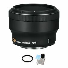 Nikon 1 Nikkor 32mm f/1.2 Lens - Black + UV Filter & Cleaning Kit