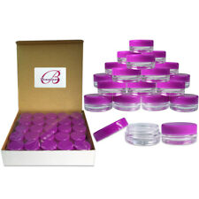 50 Small Empty Jars With Lids for Scrubs Lotion Kitchen Spice Cosmetics Purple