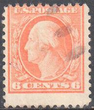 SC#506 - 6c George Washington Perf 11 Used (506-9) Very Light Cancel