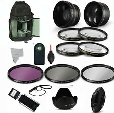 Lens & Filter Kit + Backpack for CANON EOS REBEL T3 T3I T4 T4I T4 T5I XS XSI HD